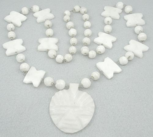 Ethnic & Boho - Mexican White Onyx Necklace