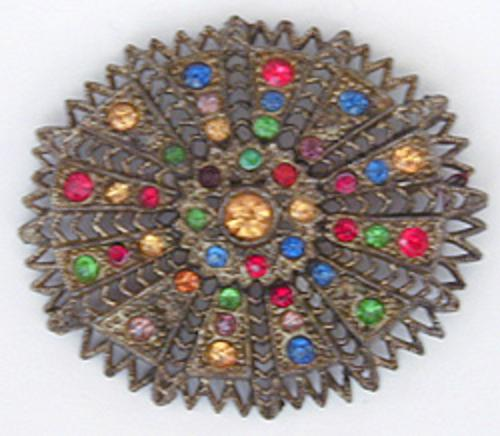 Brooches - Little Nemo Jewel Tone Rhinestone Brooch