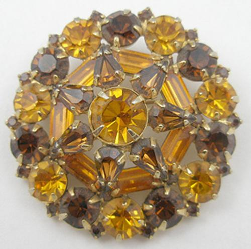 Newly Added Topaz Rhinestone Brooch