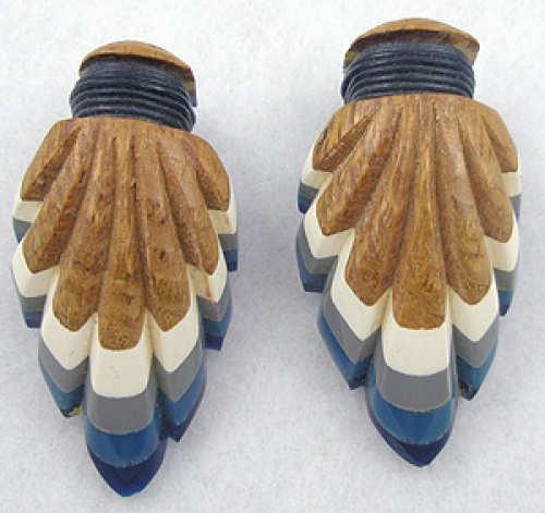 Newly Added Laminated Wood & Lucite Dress Clips