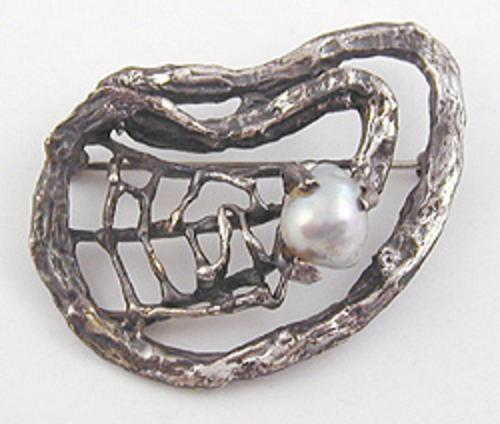 Misc. Signed A-F - Otto R. Bade Sterling Brooch