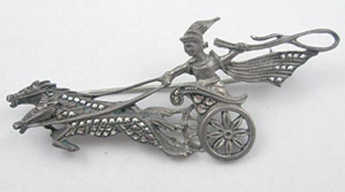 Newly Added KV Silver Marcasite Apollo Brooch
