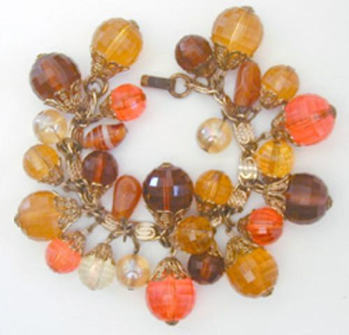 Newly Added Autumn Faceted Plastic Beads Charm Bracelet