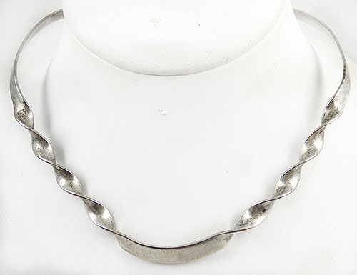 Newly Added Sterling Silver Twist Torc Necklace