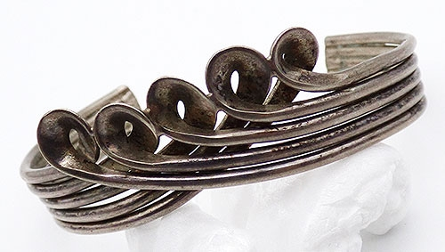 Newly Added Mexican Sterling Cuff Bracelet