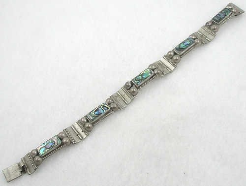 Mexico - Vintage Taxco Sterling Abalone bracelet