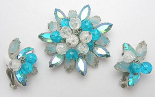 Sets & Parures - DeLizza & Elster Aqua Brooch Set