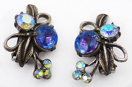 Florenza - Florenza Heliotrope Rhinestone Earrings