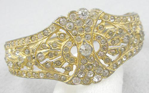 Newly Added Art Deco Rhinestone Hinged Bracelet