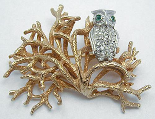 Castlecliff - Castlecliff Owl in Tree Brooch