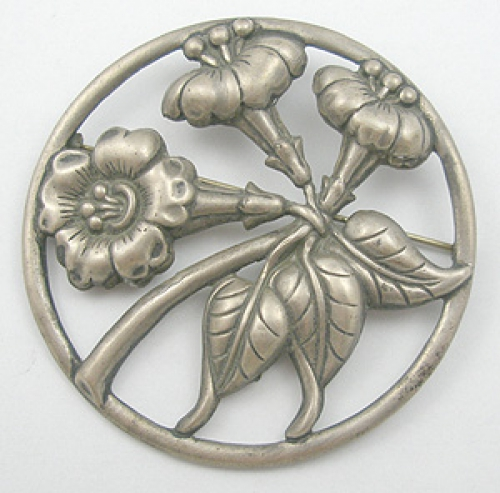 Newly Added Danecraft Sterling Floral Brooch