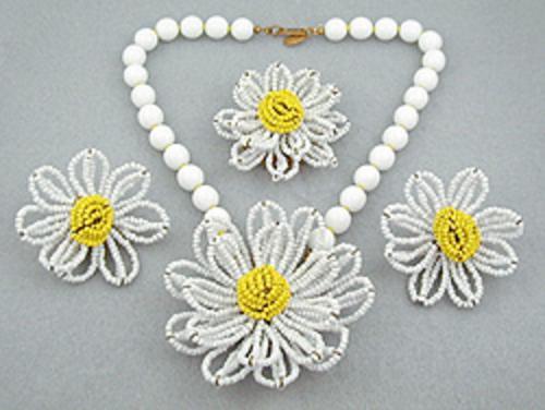 Florals - Miriam Haskell Daisy Parure
