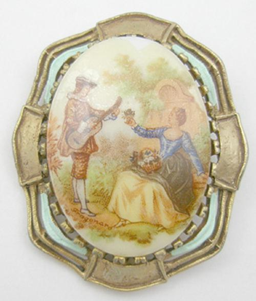 Newly Added Porcelain Portrait Brooch