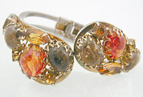 Newly Added Autumn Stones Hinged Clamper Bracelet