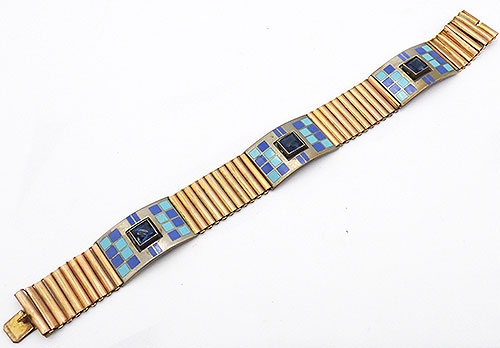Misc. Signed M-R - Rodi Wienenberger Enameled Bracelet