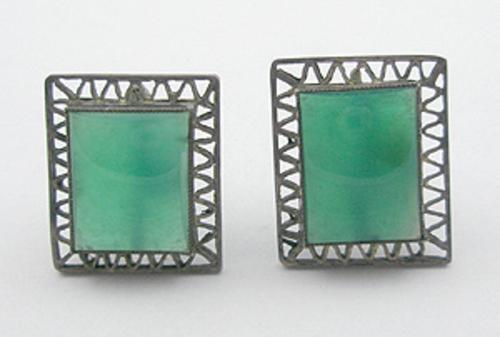 Newly Added Jade Glass Earrings
