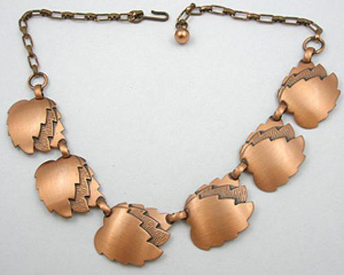 Leaves & Plants - Copper Leaf Necklace