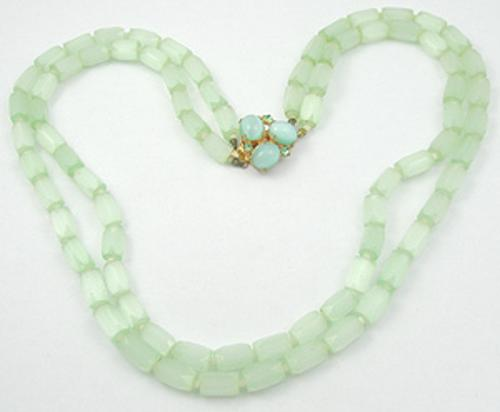 Necklaces - Mint Green Glass Bead Necklace