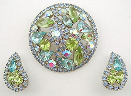 Weiss - Weiss Domed Rhinestone Brooch Set