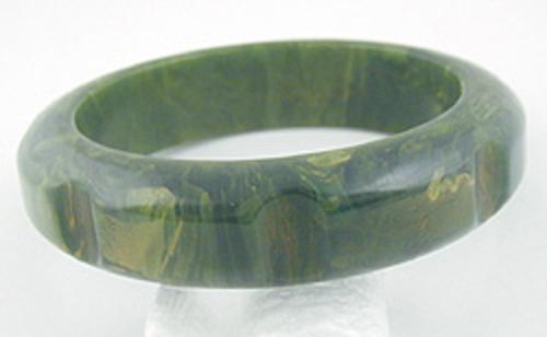 Bakelite, Celluloid, Galalith - Creamed Spinach Bakelite Bangle