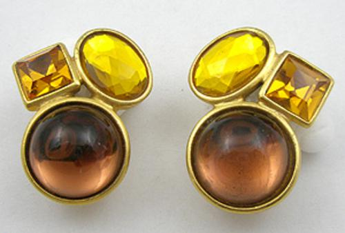 Newly Added Ben-Amun Topaz Rhinestone Earrings