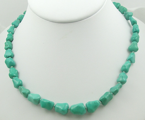 China - Vintage Chinese Turquoise Necklace