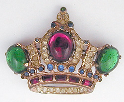 Crowns & Heraldic Jewelry - Corocraft Sterling Crown Brooch