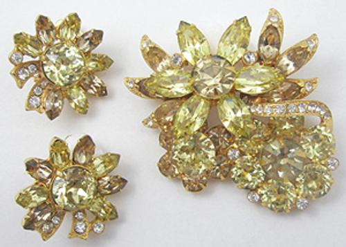 Eisenberg - Eisenberg Yellow Flowers Brooch Set