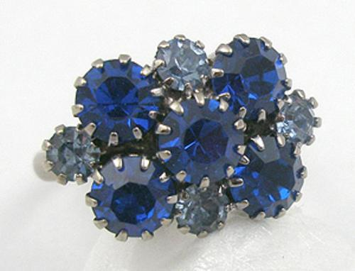 Pantone Color of the Year 2020 - Blue Rhinestone Ring