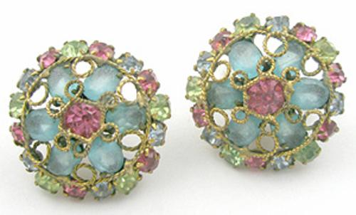 Newly Added Robert Rhinestone Filigree Earrings
