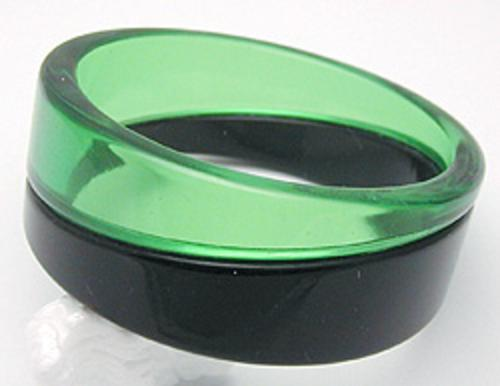 Newly Added Green and Black Lucite Bracelet