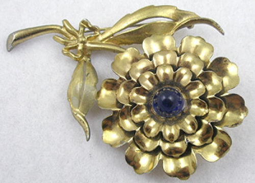 Florals - Golden Carnation Brooch