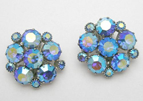 Newly Added Weiss Blue Aurora Earrings