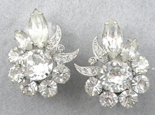 Bridal, Wedding, Special Occasion - Eisenberg Crystal Rhinestone Earrings