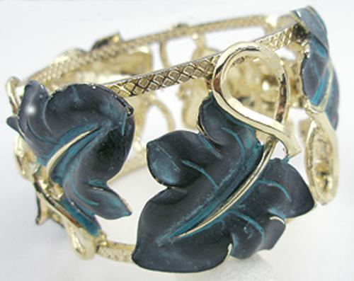 Newly Added Black Leaf Hinged Bracelet