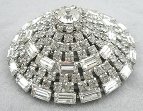 Newly Added Domed Rhinestone Brooch