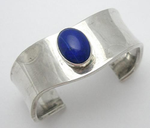 Newly Added Sterling Azurite Cuff Bracelet