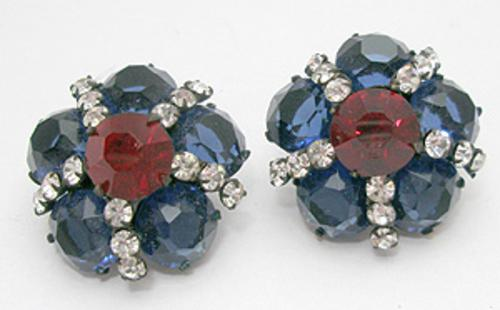 Newly Added Patriotic Rhinestone Earrings