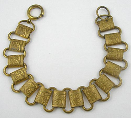 Newly Added Victorian Brass Bookchain Bracelet