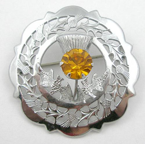 Brooches - Mizpah Thistle Brooch