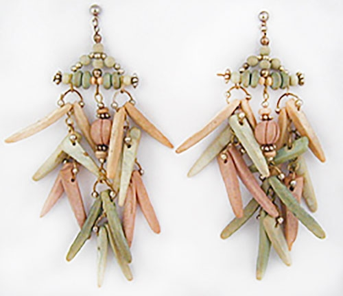Newly Added Wooden Bead Dangling Earrings