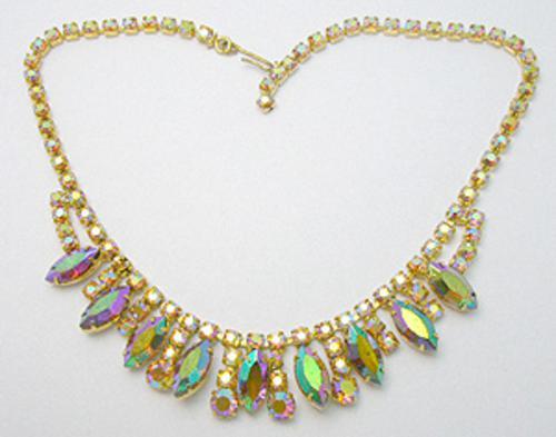 Necklaces - Topaz Aurora Rhinestone Necklace