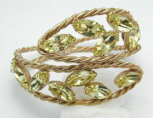 Newly Added Napier Yellow Rhinestone Bracelet