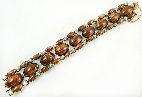 Autumn Fall Colors Jewelry - Schreiner Goldstone Glass Bracelet