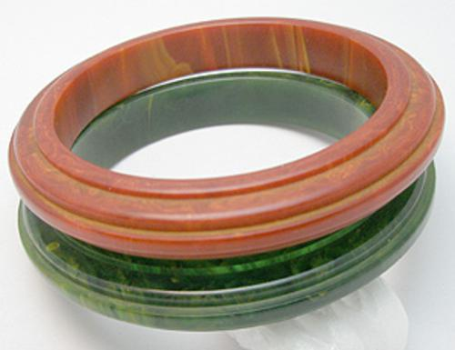 Newly Added Step Carved Bakelite Bangles Set