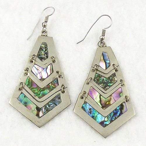 Mexico - Vintage Mexican Abalone Earrings
