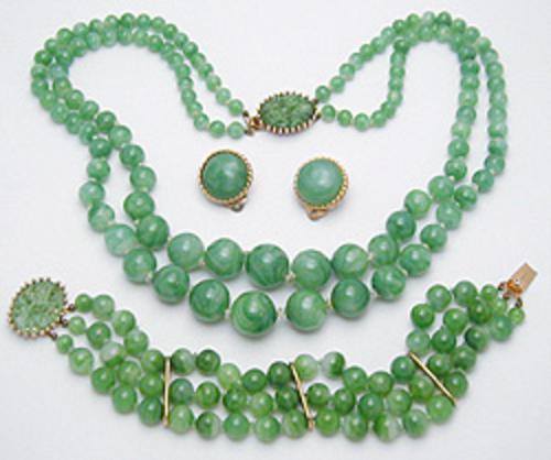 Sets & Parures - Jomaz Jade Glass Bead Parure
