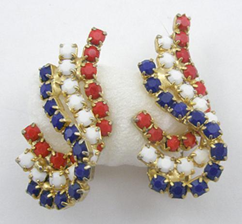 Patriotic Jewelry - Hobé Patriotic Earrings