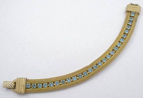 Newly Added Sarah Coventry Light Blue Rhinestone Bracelet