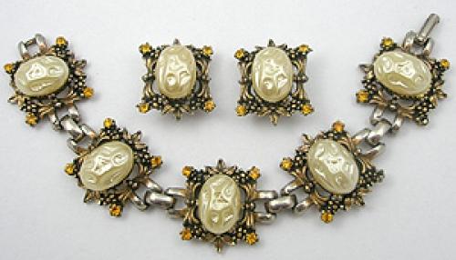 Sets & Parures - Faux Pearl Bracelet Earrings Set